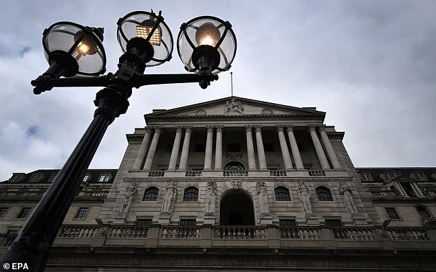 The SNP's official position is that if they gain their independence in this way, they will initially keep the pound sterling, but without, of course, any recourse to the Bank of England (photo, stock image)