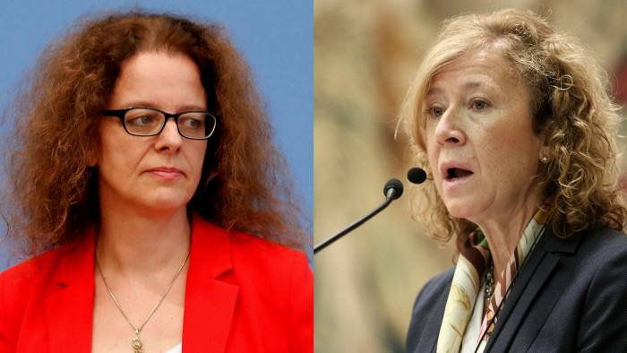 Isabel Schnabel, on the left, of the ECB and Margarita Delgado, on the right, of the Bank of Spain